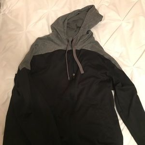 Black and Grey Zip Up Hoodie size L